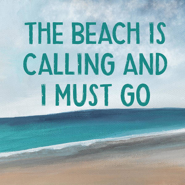 Wall Art - Mixed Media - The Beach Is Calling 2- Art By Linda Woods by Linda Woods