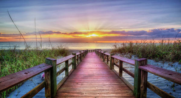 Photograph - The Beach Is Calling Panorama by Debra and Dave Vanderlaan