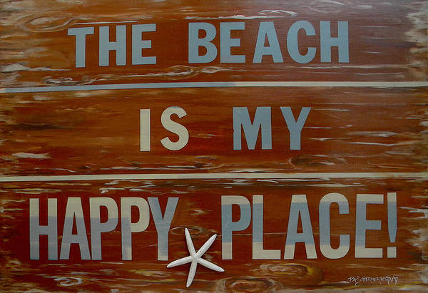 Painting - The Beach Is My Happy Place by Patti Schermerhorn