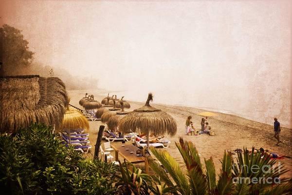 Sunbather Wall Art - Photograph - The Beach - Marbella by Mary Machare