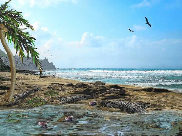 Digital Art - The Beach by Tony Rodriguez