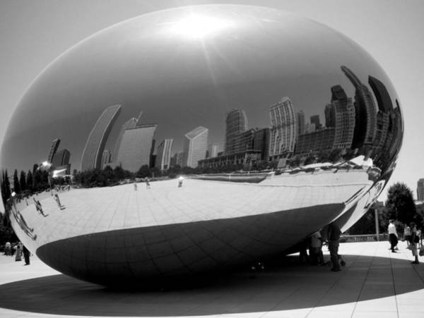Photograph - The Bean B-w by Anita Burgermeister
