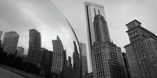 Photograph - The Bean Reflecting Chicago Skyline by James Udall