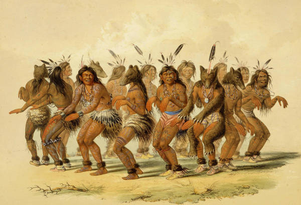 Relief - The Bear Dance by George Catlin