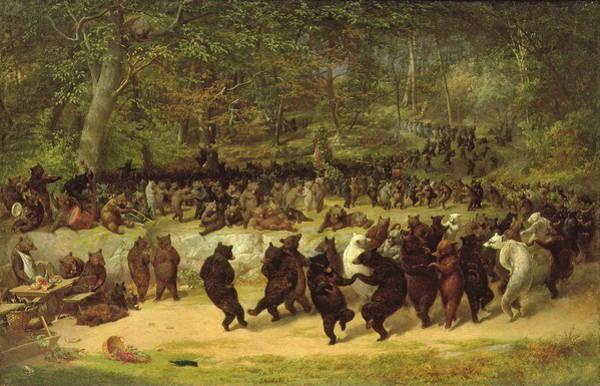 Predator Painting - The Bear Dance by William Holbrook Beard