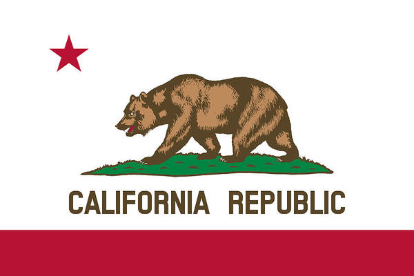 Grizzlies Mixed Media - The Bear Flag - State Of California by War Is Hell Store