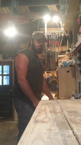 Tight Pants Photograph - The Bearded Woodworker by Scott D Van Osdol