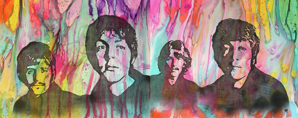 Painting - The Beatles Acid Wash by Dean Russo Art