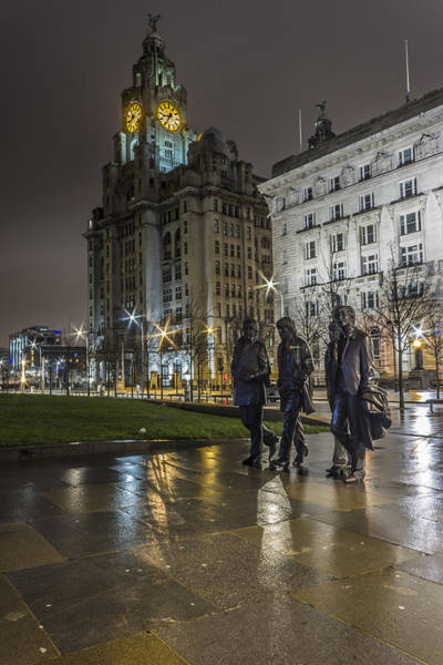 Ringo Star Wall Art - Photograph - The Beatles And The Liver Building by Paul Madden