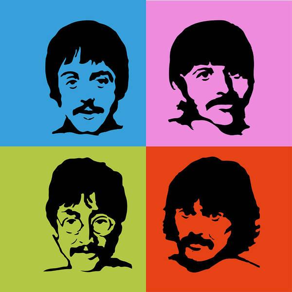 Wall Art - Digital Art - The Beatles Colors by Geek N Rock