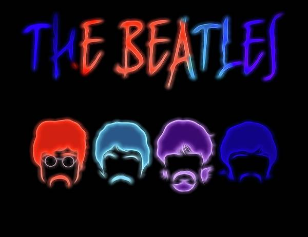 Classic Rock Mixed Media - The Beatles Electric Poster by Dan Sproul