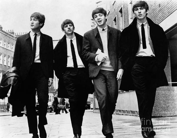 Roll Photograph - The Beatles by Granger