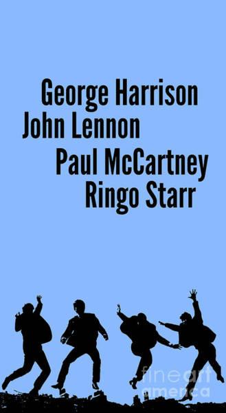 Wall Art - Digital Art - The Beatles John Lennon, Paul Mccartney, George Harrison And Ringo Starr by Drawspots Illustrations