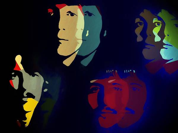 Classic Rock Mixed Media - The Beatles Psychedelic by Dan Sproul