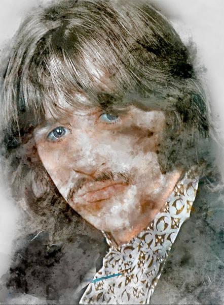 Ringo Star Mixed Media - The Beatles Ringo Starr by Marvin Blaine