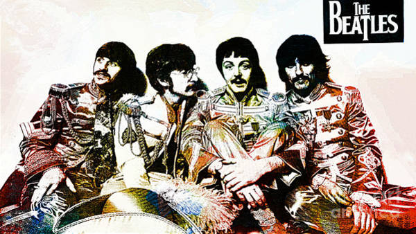 Wall Art - Drawing - The Beatles--sargent Peppers Lonely Hearts Club Band by Ian Gledhill
