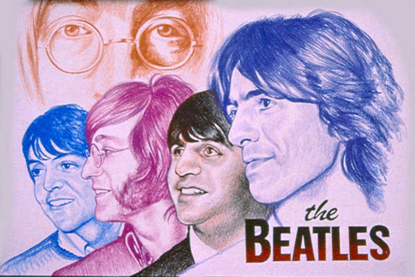 Impressionistic Landscape Drawing - The Beatles by Robert Korhonen