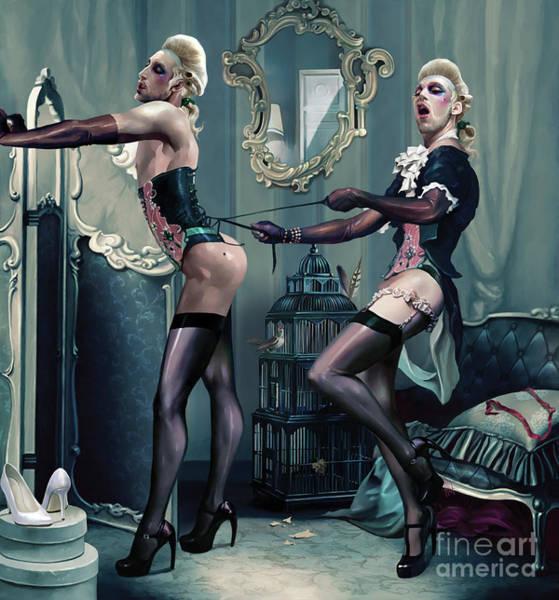 Boudoir Digital Art - The Beau Belle Brothers by Ali Franco