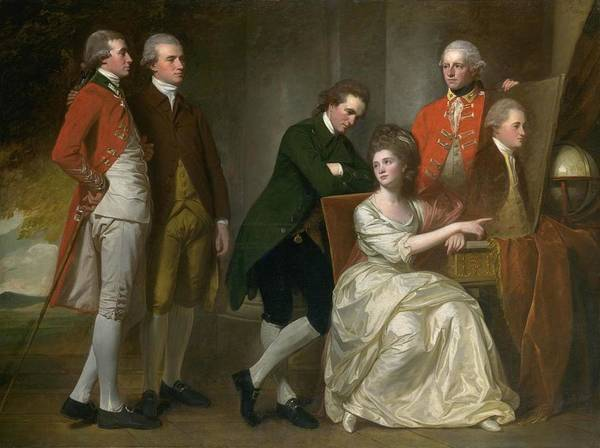 Romney Painting - The Beaumont Family by George Romney