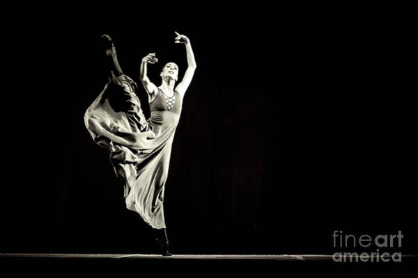 Photograph - The Beautiful Ballerina Dancing In Long Dress by Dimitar Hristov