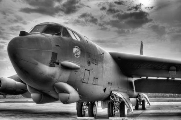 Nuclear Bomber Wall Art - Photograph - The Beautiful Buff Bw by JC Findley