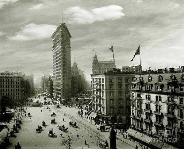 The Empire Photograph - The Beautiful Flatiron Building Circa 1902 by Jon Neidert