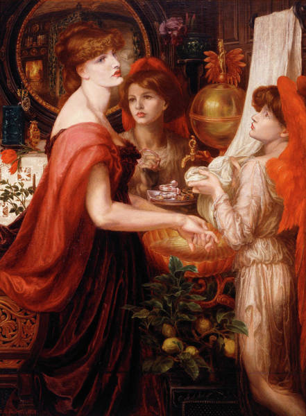 Wall Art - Painting - The Beautiful Hands by Dante Gabriel Rossetti