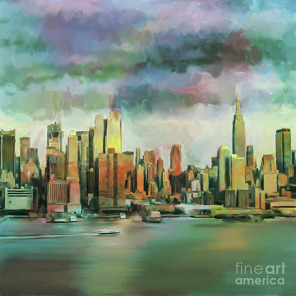 Wall Art - Painting - The Beautiful New York  by Gull G