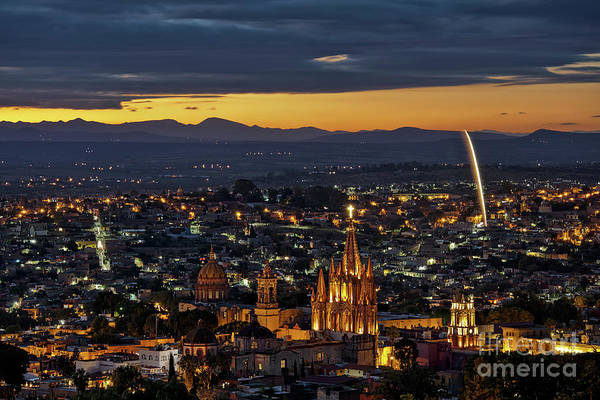 The Beautiful Spanish Colonial City Of San Miguel De Allende, Mexico Art Print