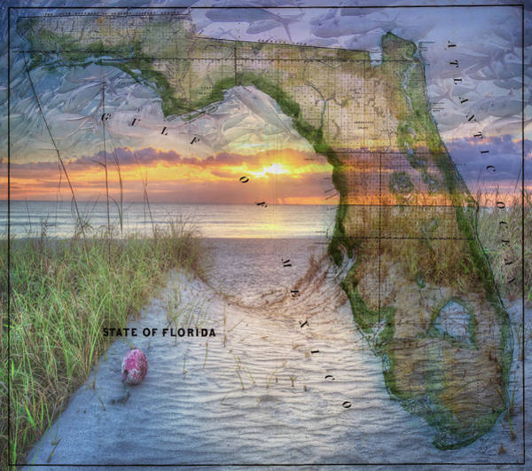 Photograph - The Beautiful Sunshine State by Debra and Dave Vanderlaan