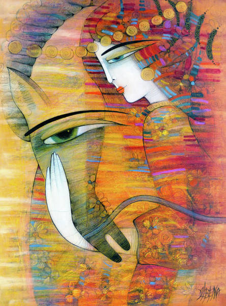 Wall Art - Painting - The Beauty And The Horse by Albena Vatcheva