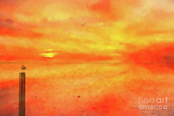 Wall Art - Digital Art - The Beauty Of A Sunset  by Randy Steele