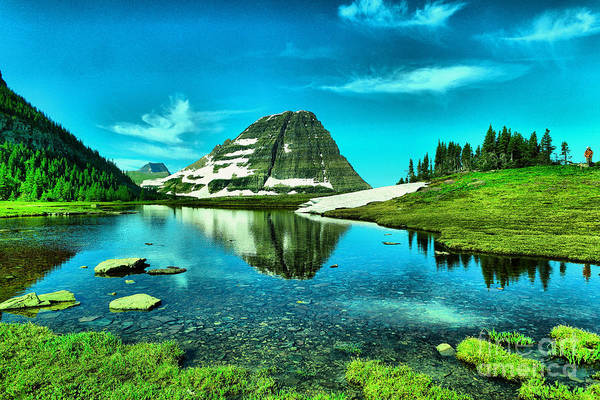 Montain Photograph - The Beauty Of Glacier by Jeff Swan