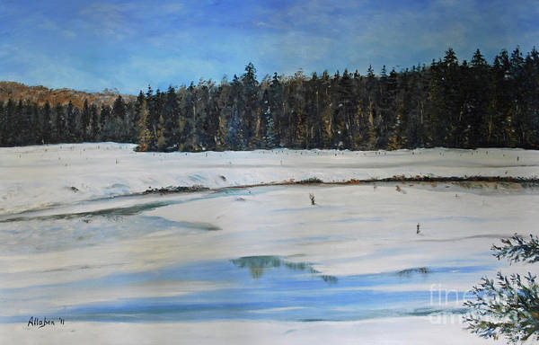 Painting - The Beaver Pond In Winter by Stanton Allaben