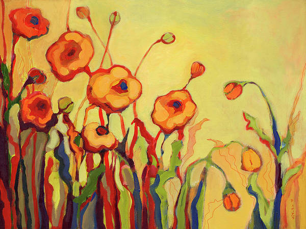 Peach Flower Wall Art - Painting - The Beckoning by Jennifer Lommers