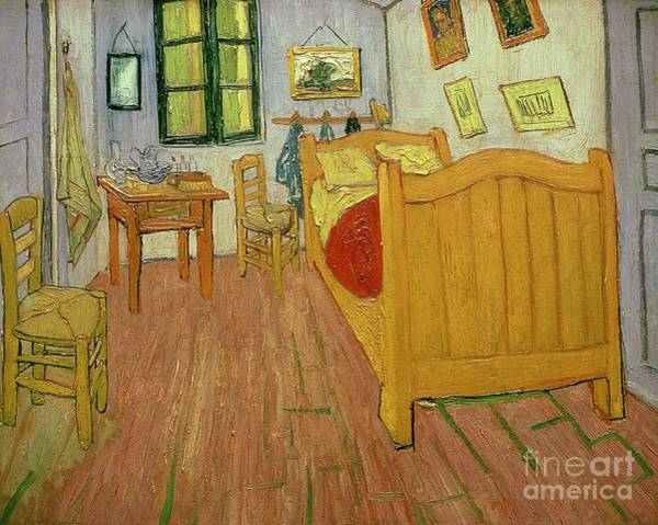 Wall Art - Painting - The Bedroom by Vincent van Gogh
