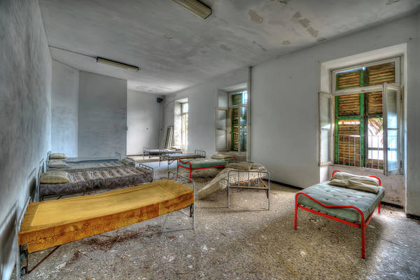 Photograph - The Bedrooms Of The Former Summer Vacation Building - Le Camerate Dell'ex Colonia Marina by Enrico Pelos