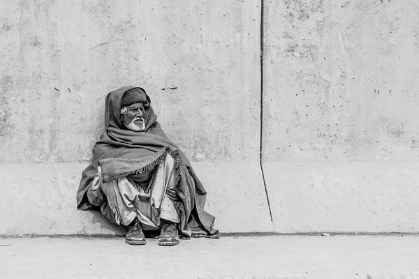 Photograph - The Beggar On The Wall by SR Green