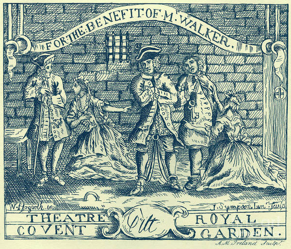 Wall Art - Drawing - The Beggars Opera By John Gay by William Hogarth
