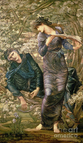 Pre Wall Art - Painting - The Beguiling Of Merlin by Sir Edward Burne-Jones
