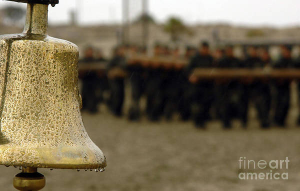 Navy Photograph - The Bell Is Present On The Beach by Stocktrek Images