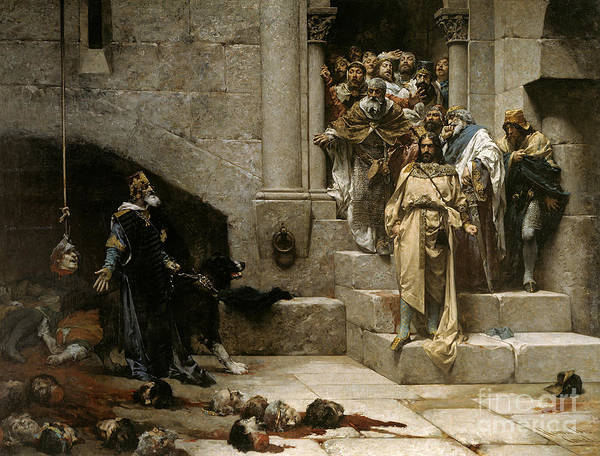 Beheaded Wall Art - Painting - The Bell Of Huesca by Jose Casado del Alisal