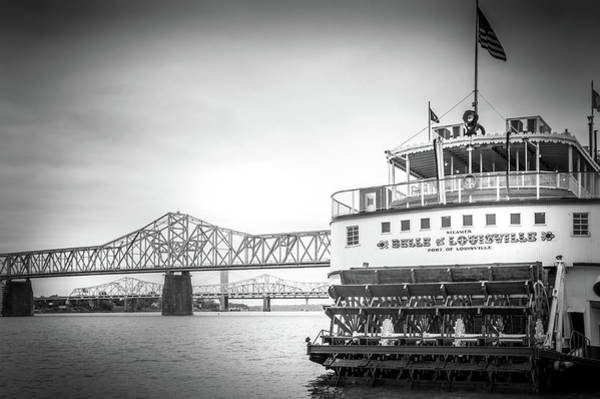 Wall Art - Photograph - The Belle Of Louisville In Black And White by Art Spectrum