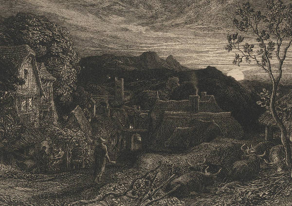 Relief - The Bellman by Samuel Palmer