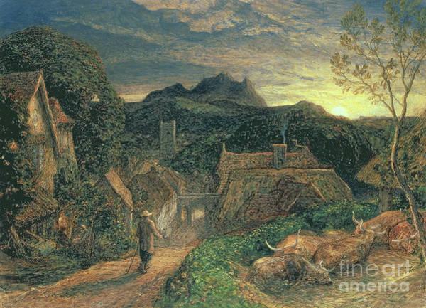 Hamlet Painting - The Bellman by Samuel Palmer
