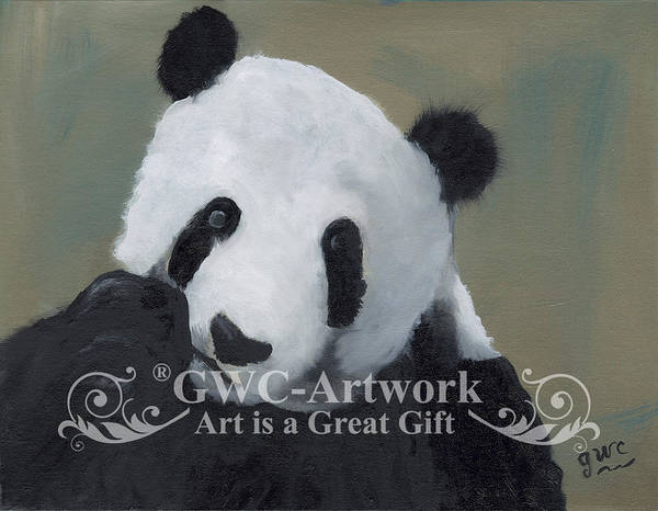 Wall Art - Painting - The Beloved Panda by Gloria Condon