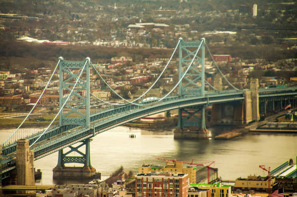 Photograph - The Ben Franklin Bridge From Above by Bill Cannon