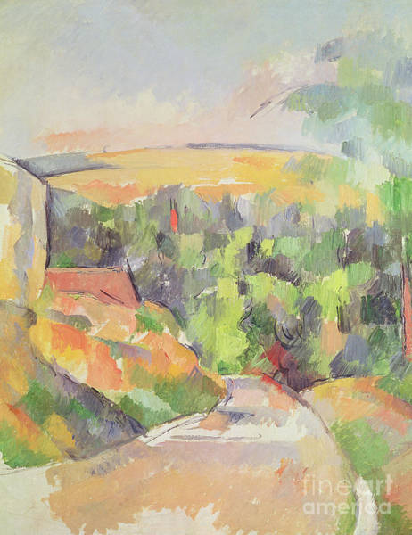 Highway Painting - The Bend In The Road by Paul Cezanne