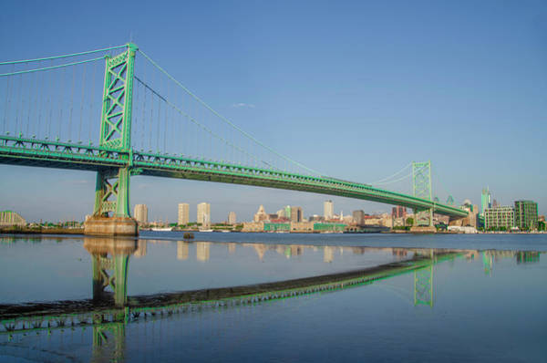 Wall Art - Photograph - The Benjamin Franklin Bridge View Of Philadelphia  - North Side  by Bill Cannon
