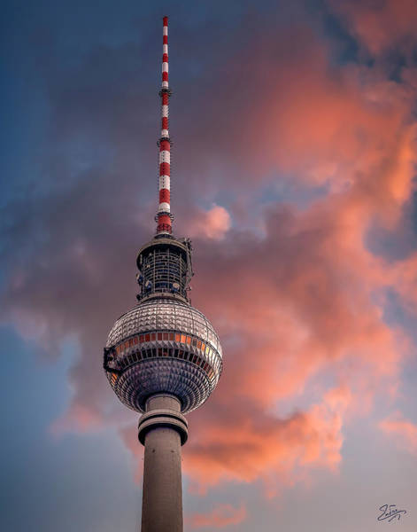 Photograph - The Berlin Radio Tower by Endre Balogh